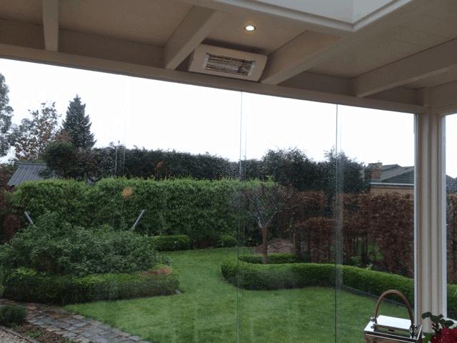 Veranda terrasverwarmer schuifbeglazing