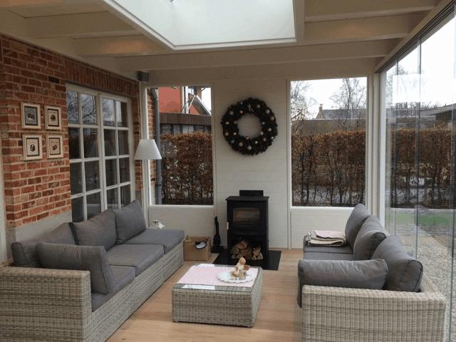 Klassieke veranda schuifbeglazing lichtstraat